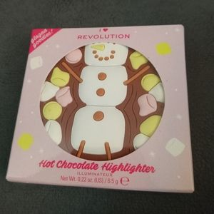 Christmas hot chocolate snowman highlighter new in the box metallic